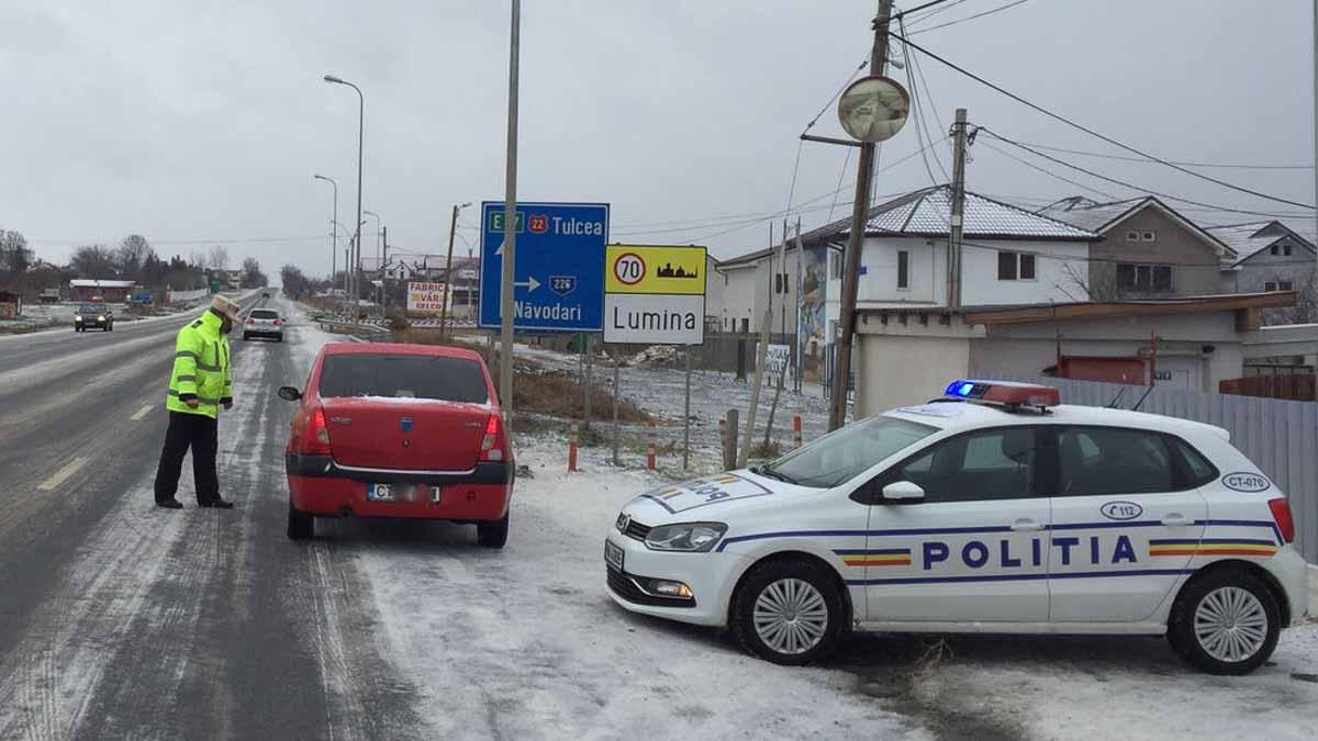 Politie Rutiera iarna la iesire din oras (3)