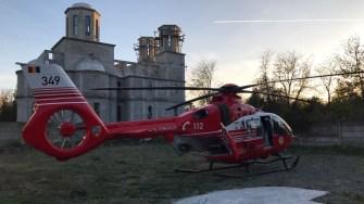 Elicopterul a fost trimis la Medgidia pentru a prelua copilul rănit