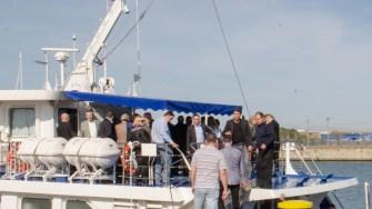 După festivitate, invitații au urcat la bordul unei nave pentru o plimbare pe Canal. FOTO Cătălin Schipor