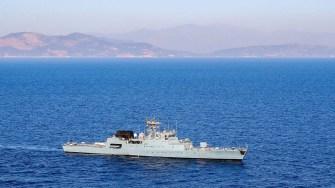 """Corveta """"Contraamiral Horia Măcellariu"""" (265) s-a întors acasă de la exercițiul din Marea Mediterană. FOTO Navy.ro"""