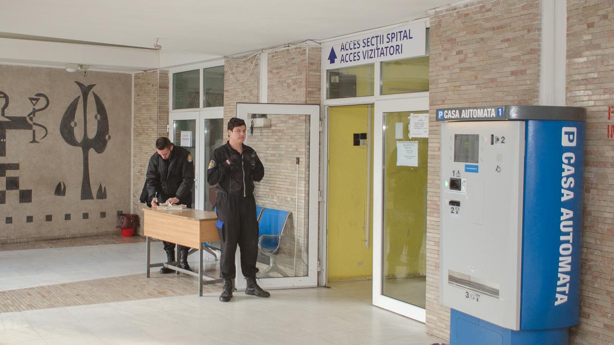 Intrare Vizitatori spital