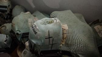 Măștile folosite pentru fixarea pacienților pe masa de radioterapie au păstrat numele bolnavilor și durerea acestora. FOTO Cătălin Schipor