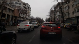 Repetita pentru ziua de 1 Decembrie a blocat traficul rutier în Constanța