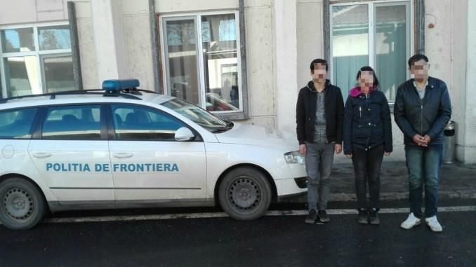 Tre migranți chinezi, originari din Tibet, prinși la frontieră. FOTO Garda de Coastă Constanța