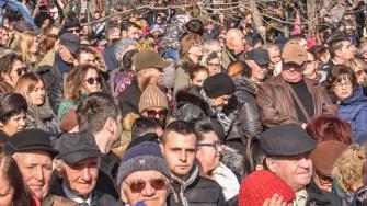 Mii de oameni au asistat la slujba de Bobotează. FOTO Cătălin Schipor