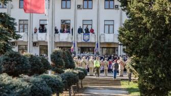 Oficialitățile militare și civile au asistat la evenimentele organizate de Unirea Principatelor. FOTO Cătălin Schipor
