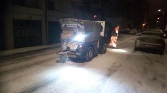 Sărărițele au împrăștiat material antiderapant pe șosele. FOTO Primăria Constanța