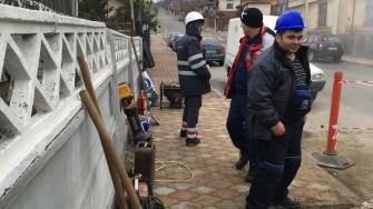 Echipele de muncitori au intervenit pentru remedierea avariei