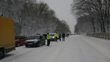 Autoturismele au fost oprite de către polițiști. FOTO IPJ Constanța