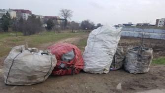 Sacii cu PET-uri au fost confiscați. FOTO Poliția Locală