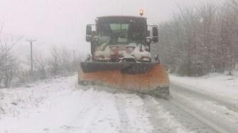 Iarna s-a întors în județul Constanța. FOTO RAJDP