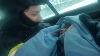 Micuțul de 3 luni i-a cucerit pe pompieri. FOTO ISU Dobrogea
