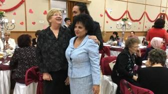 Mariana Gâju și Elena Frâncu la Ziua Femeii, organizată de Primăria Cumpăna. FOTO Adrian Boioglu