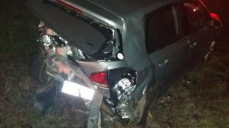 În urma accidentului produs de individul beat, patru persoane au ajuns la spital. FOTO IPJ Constanța