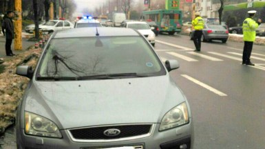 Șoferul vinovat a fost agresat de însoțitorii fetei. FOTO IPJ Constanța