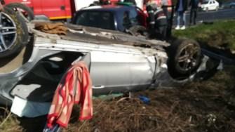 Accident cu victime multiple pe drumul spre Mangalia. FOTO ISU Constanța