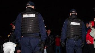 Jandamii constanțeni au asigurat măsurile de liniște și ordine publică. FOTO CătălinSchipor