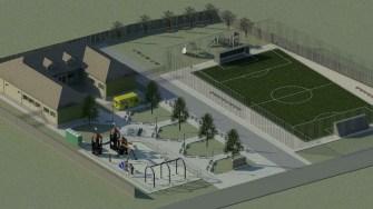 Așa va arăta la final noua școală și grădinița din satul Poiana. FOTO Primăria Ovidiu
