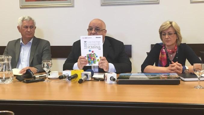Directorul General al SC RAJA SA, Felix Stroe și conducerea companiei. FOTO CTnews.ro