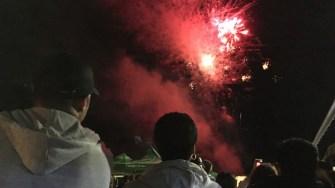 Artificii la Ziua comunei Mircea Vodă. FOTO CTnews.ro