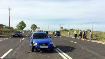 Trei autoturisme au fost implicate în accidentul de lângă DMHI Mangalia. FOTO IPJ Constanța