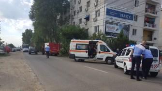 La fața locului au fost trimise echipaje ale poliției, ambulanței și pompierilor. FOTO ISU Dobrogea