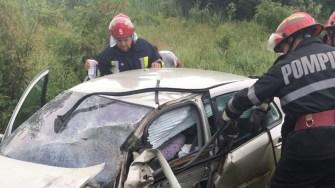 Pompierii de la Descarcerare au intervenit pentru salvarea unei victime. FOTO ISU Dobrogea
