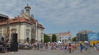 În Piața Ovidiu a fost organizată Ziua Copilului. FOTO Cătălin SCHIPOR