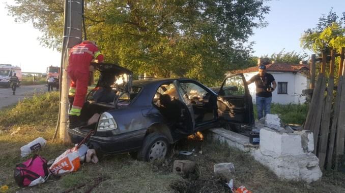 Accident rutier cu 7 victime la Ovidiu. FOTO ISU Dobrogea