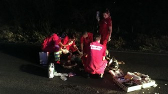 În urma impactului, biciclistul a decedat. FOTO IPJ Constanța