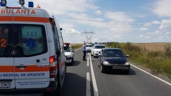 Circulația a fost restricționată în urma accidentului rutier. FOTO IPJ Constanța
