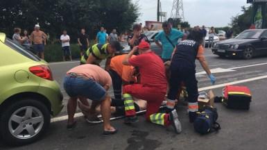 Accident grav la Costinești. FOTO ISU Dobrogea