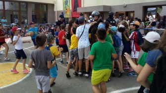 Copii au putut participa alături de jandarmi la exercițiile desfășurate de aceștia. FOTO IJJ Constanța