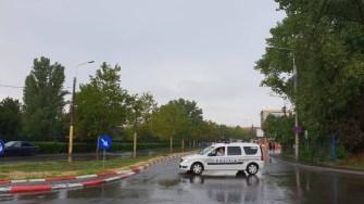Poliția a închis drumurile cu probleme. FOTO CTnews.ro