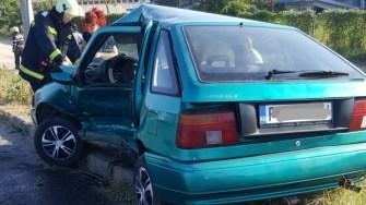 Manevra a dus la un accident rutier grav. FOTO IPJ Constanța