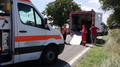 Echipajele medicale au acordat primul ajutor victimelor. FOTO SAJ Constanța
