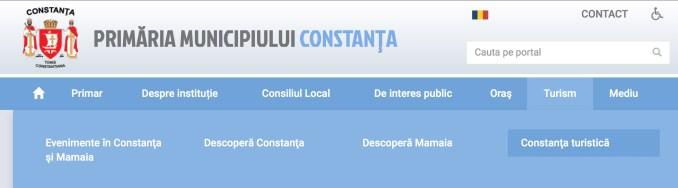 Site-ul Primăriei Constanța. FOTO CTnews.ro