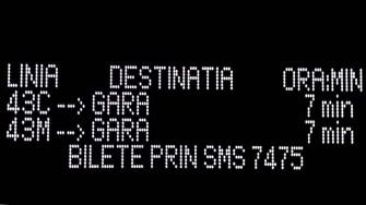 Informațiile despre traseu, timp estimat al autobuzului ș.a. vor fi afișate pe panourile electronice. FOTO RATC Constanța