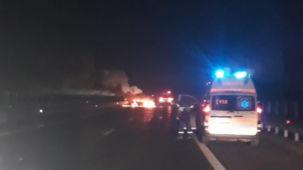 accident incendiu