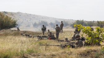 Militari din Bulgaria, Georgia, Ucraina, Republica Moldova şi Statele Unite ale Americii s-au antrenat împreună. FOTO MApN/Gheorghe Gabără