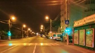 La locul producerii accidentului au rămas urme. FOTO IPJ Constanța