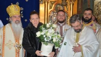 """Simona Halep a primit distincția eparhială a Arhiepiscopiei Tomisului pentru mireni """"Crucea Sf. Ap. Andrei. FOTO Tomisul Ortodox"""