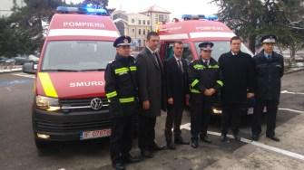 Ceremonia de prezentare a ambulanțelor noi. FOTO CTnews.ro