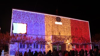 Iluminatul festiv de la Cernavodă. FOTO Adrian Boioglu