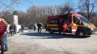La locul accidentului a ajuns și un echipaj medical. FOTO IPJ Constanța