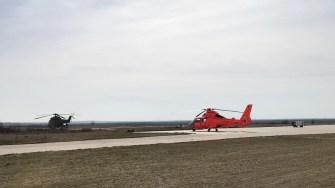 Elicopterul RAS Tuzla s-a alăturat misiunii de căutare. FOTO RAS Tuzla