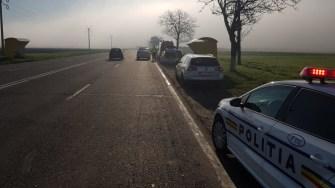 Polițiștii au intervenit la locul producerii accidentului. FOTO IPJ Constanța