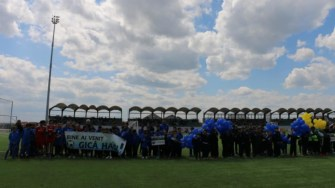 """Inaugurarea complexului sportiv """"CENTENAR 2018"""" din comuna Cumpăna. FOTO Facebook"""