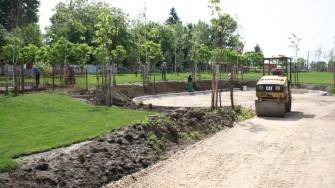 Amenajare spații verzi în orașul Negru Vodă. FOTO Ctnews.ro