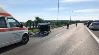 În urma impactului, pasagera a decedat. FOTO SAJ Constanța